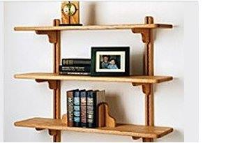 Build your own stylish shelving unit built on columns with no back or ...