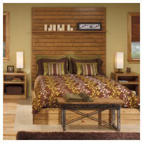Pine Board Bed Set
