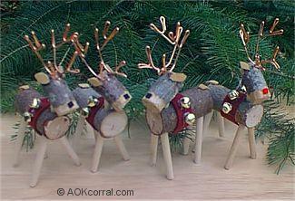 reindeer christmas ornaments - Outdoor Wooden Reindeer Christmas Decorations