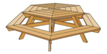 Free picnic table plans woodworkingplansfree hexagon picnic table watchthetrailerfo