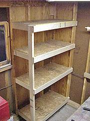 Built-In Utility Shelves