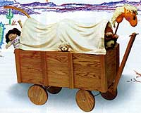 Covered Wagon Toy Box